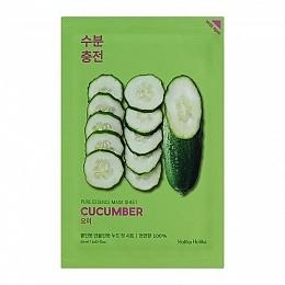 Holika Маска Pure Essence Mask Sheet Cucumber Успокаивающая Тканевая Огурец, 20 мл