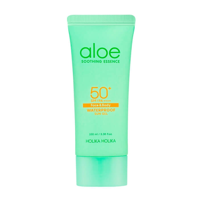 Holika Holika Гель Aloe Soothing Essence Face&Body Waterproof Sun Gel SPF 50+ PA ++++ Солнцезащитный Алоэ Сан Водостойкий, 100 мл lancaster гель sun sport invisible face gel matte finish spf 30 50 мл