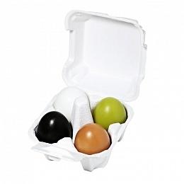 Holika Набор Egg Soap Special Set  Мыло Уголь+Глина+Зеленый Чай+ Белок Яйца, 4*50г