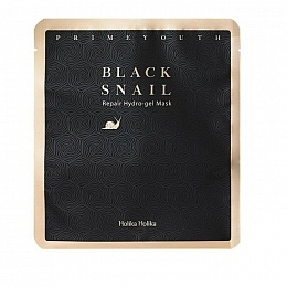 Holika Маска Prime Youth Black Snail Repair Hydrogel Mask Гидрогелевая с Экстрактом Муцина Черной Улитки, 25г