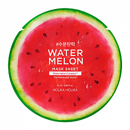 Holika Маска Water Melon Mask Sheet Тканевая для Лица Арбуз, 25 мл