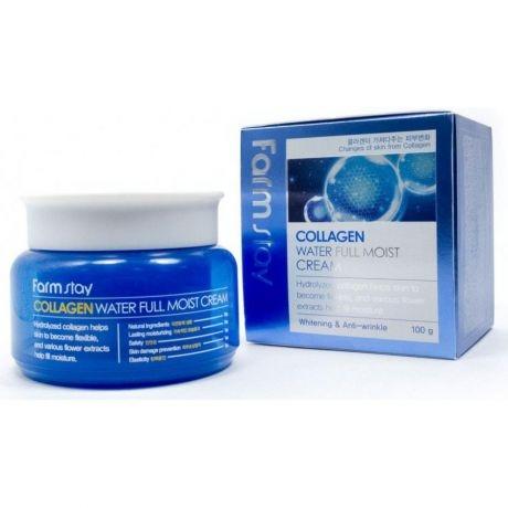 цена на FarmStay Крем Увлажняющий для Лица с Коллагеном Collagen Water Full Moist Cream, 100г