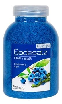 Camillen 60 Соль Badesalz Blaubeere-Alge для Ножных Ванн Черника и Водоросли, 1350 мл соль для ножных ванн расслабляющая киви и мелисса badesalz kiwi melisse соль 1350г