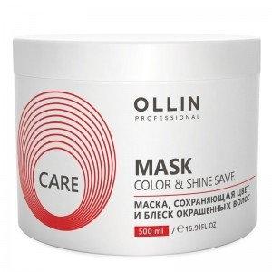 OLLIN PROFESSIONAL Маска Color&Shine Save Mask Сохраняющая Цвет и Блеск Окрашенных Волос, 500 мл nirvel professional маска блеск mask shine color protection camellia