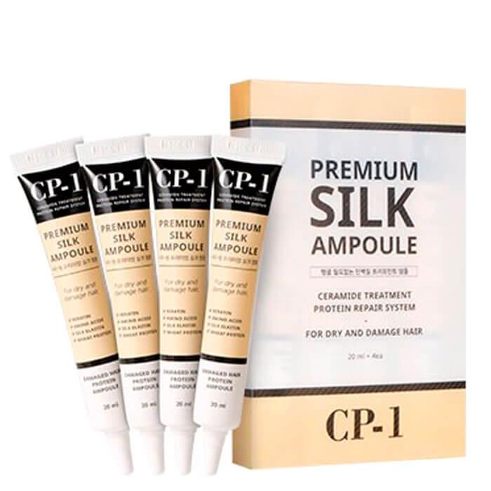 Esthetic House Набор CP-1 Premium Silk Ampoule Несмываемая Сыворотка для Волос с Протеинами Шелка, 10*20 мл