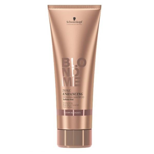 Schwarzkopf Бондинг-Шампунь для Поддержания Теплых Оттенков Блонд Blondme Tone Enhancing Bonding Shampoo Warm Blondes, 250 мл