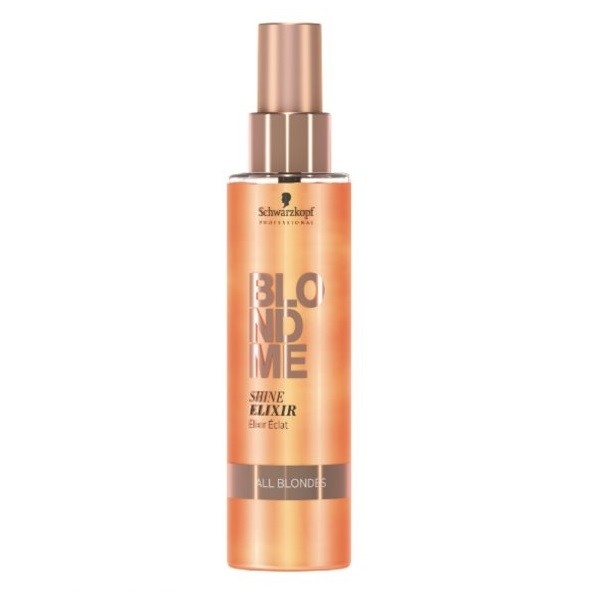 Schwarzkopf Эликсир для Придания Блеска Волосам BlondMe Shine Elixir, 150 мл эликсир для придания блеска волосам 150 мл schwarzkopf professional blondme