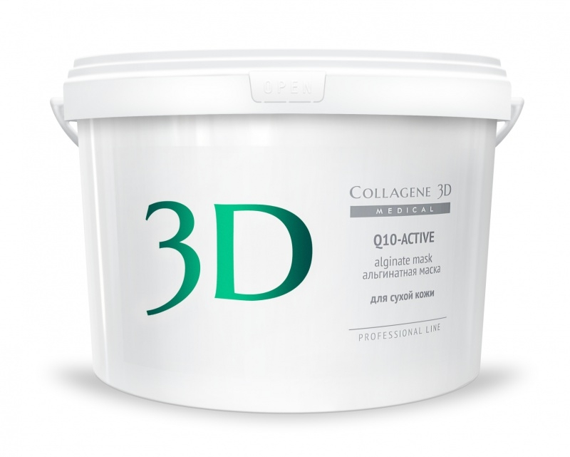Collagene 3D Альгинатная маска для лица и тела с маслом арганы коэнзимом Q10 Active, 1200 г