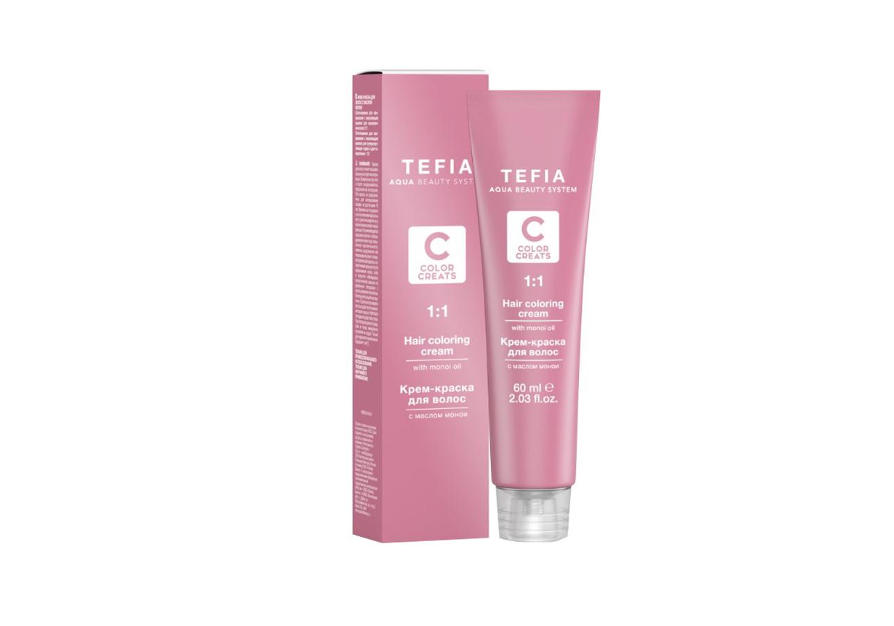 Tefia Крем-Краска для Волос с Маслом Монои Color Creats, 60 мл tefia оттеночная маска для волос платиновая color creats 250 мл