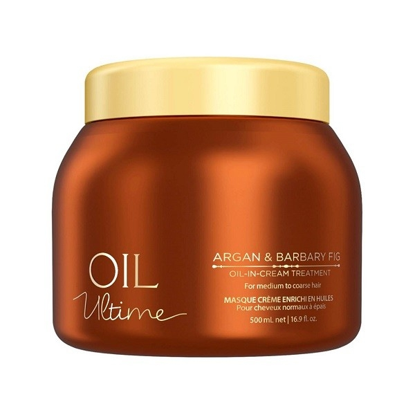 Schwarzkopf Маска Oil Ultime Oil-in-Cream Treatment для Жестких и Средних Волос, 500 мл schwarzkopf маска мусс oil ultime lignt oil in mousse 500 мл