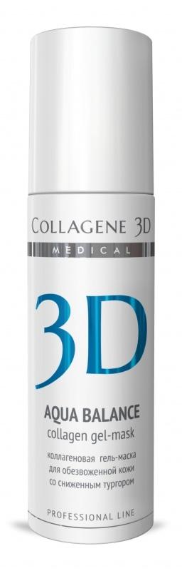 Collagene 3D Гель-маска для лица с гиалуроновой кислотой, восстановление тургора и эластичности кожи Aqua Balance collagene 3d крем для лица с гиалуроновой килотой восстановление тургора и эластичности кожи aqua balance 150 мл