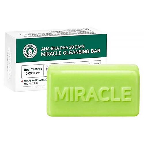 Some By Mi Мыло AHA-BHA-PHA 30 Days Miracle Cleansing Bar с Кислотами для Проблемной Кожи, 100г