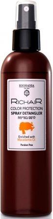 Egomania RICHAIR Спрей-Кондиционер Защита Цвета с Маслом Макадамии, 250 мл
