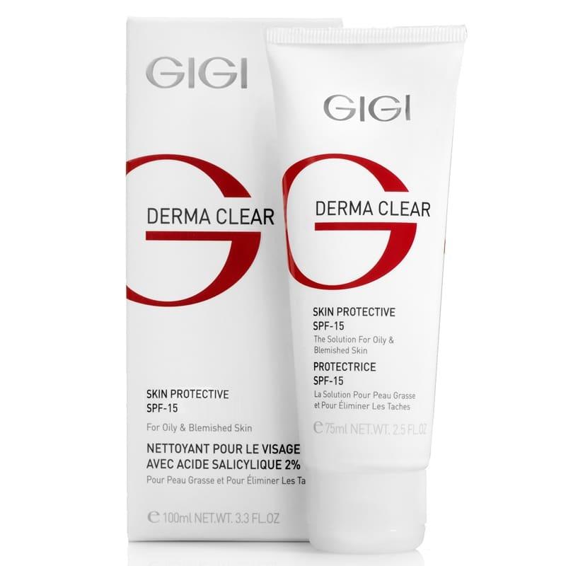 GIGI Крем DC Cream Protective Увлажняющий Защитный Spf 15, 75 мл gigi крем bp azelaic cream с 15% азелаиновой кислотой для жирной проблемной кожи 30 мл