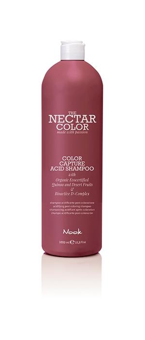Nook Шампунь Фиксирующий для Волос после Окрашивания Color Capture Acid Shampoo/ Acidifying Post-Colouring, 1000 мл