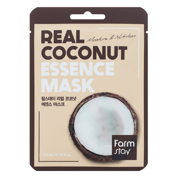 FarmStay Тканевая Маска для Лица с Экстрактом Кокосом Real Coconut Essence Mask, 23 мл farmstay гель спрей для лица с экстрактом граната farmstay farmstay it s real pomegranate gel mist 120 мл