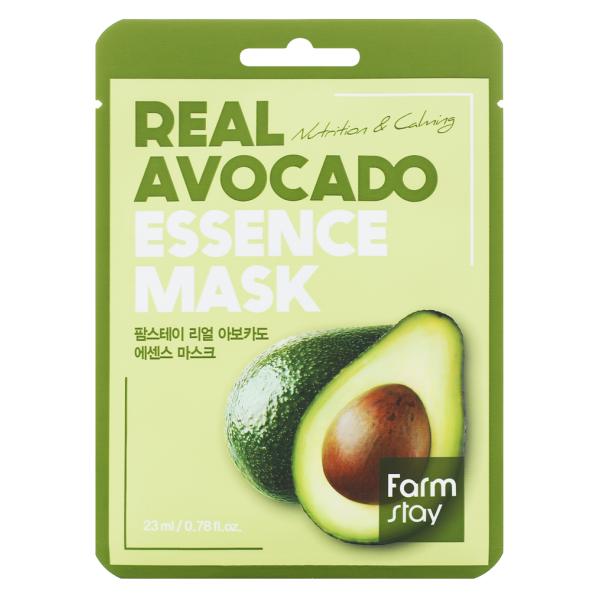 FarmStay Тканевая Маска для Лица с Экстрактом Авокадо Real Avocado Essence Mask, 23 мл farmstay гель спрей для лица с экстрактом граната farmstay farmstay it s real pomegranate gel mist 120 мл