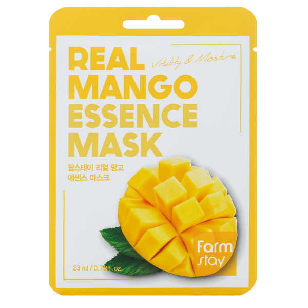 FarmStay Тканевая Маска для Лица с Экстрактом Манго Real Mango Essence Mask, 23 мл farmstay гель спрей для лица с экстрактом граната farmstay farmstay it s real pomegranate gel mist 120 мл