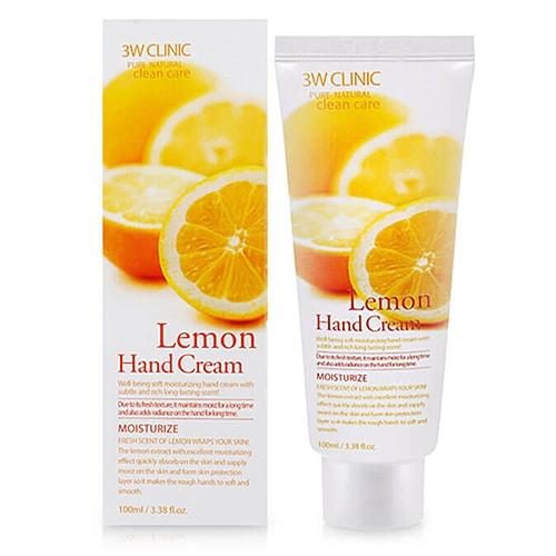 3W Clinic Крем Lemon Hand Cream для Рук с Экстрактом Лимона, 100 мл tonymoly крем для рук с экстрактом мандарина лайма лимона вербена scent of the day hand cream so fresh 30мл