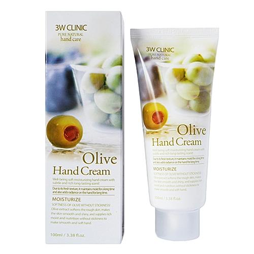 3W Clinic Крем Olive Hand Cream для Рук с Оливковым Маслом, 100 мл