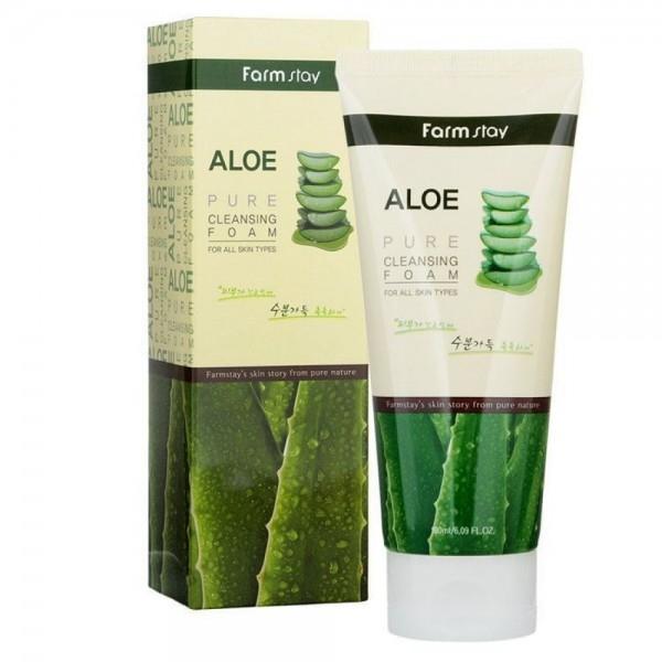 FarmStay Пенка Очищающая с Экстрактом Алоэ Aloe Pure Cleansing Foam, 180 мл