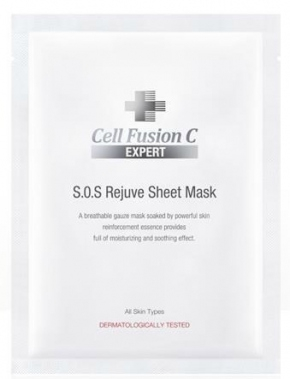 Cell Fusion C Маска S.O.S Rejuve Sheet Mask Тканевая, 15г маска deoproce color synergy effect sheet mask yellow green