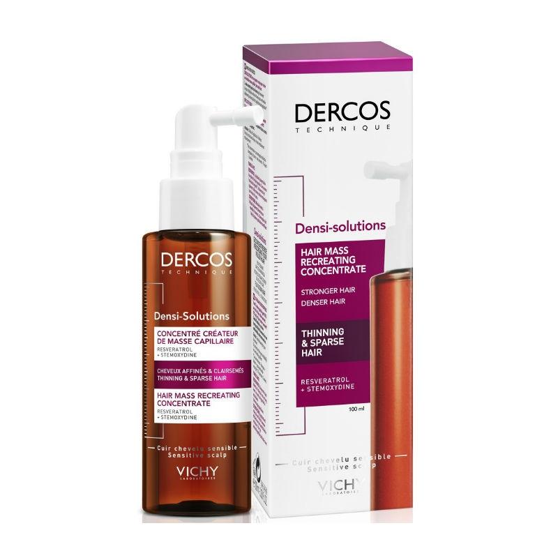 VICHY Сыворотка Dercos Densi-Solutions для Роста Волос для Истонченных и Редеющих Волос, 100 мл