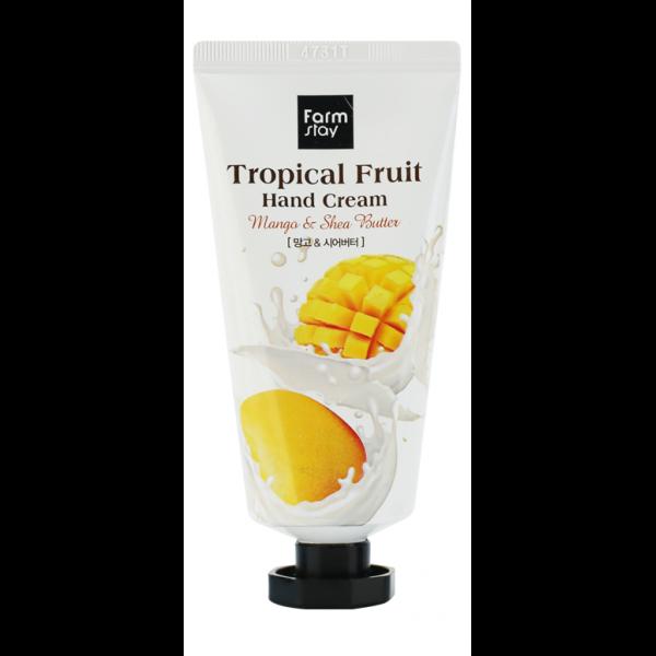 FarmStay Крем для Рук Тропические Фрукты с Манго и Маслом Ши Tropical Fruit Hand Cream Mango & Shea Butter, 50 мл