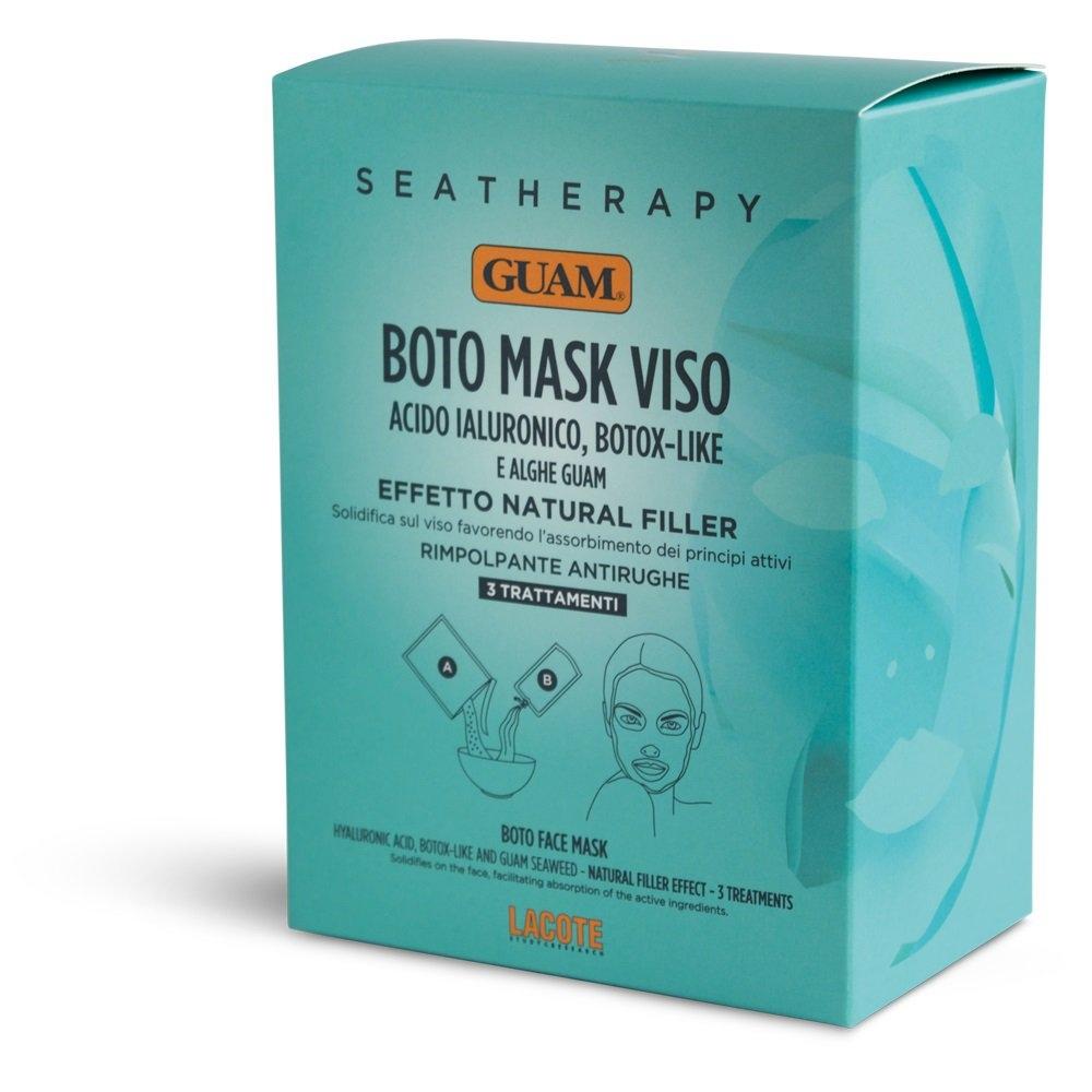 GUAM Маска Seatherapy для Лица Ботокс Эффект с Гиалуроновой Кислотой и Водорослями, 3 уп*(20г+40 мл) ботокс от кисетных морщин