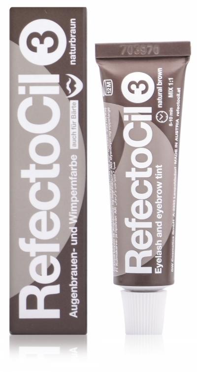 Refectocil Краска Eyelash & Eyebrow Color для Бровей и Ресниц Коричневая № 3, 15 мл