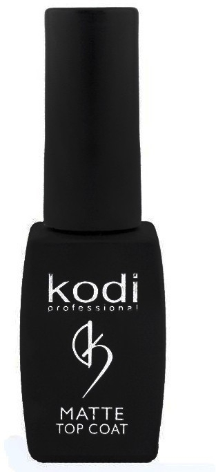 Kodi Professional Покрытие Matte Top Coat Матовое Верхнее для Гель Лака, 8 мл kodi каучуковое верхнее покрытие топ финиш для гель лака rubber top 35 мл