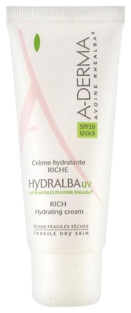 A-Derma Крем Hydralba UV Насыщенный Увлажняющий, 40 мл a derma крем hydralba uv насыщенный увлажняющий 40 мл