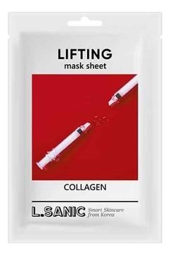 Фото - L.Sanic Маска Collagen Lifting Mask Sheet Коллагеновая Тканевая с Эффектом Лифтинга, 3*25 мл bioaqua питательная коллагеновая маска pigskin collagen с кислородом 100 г