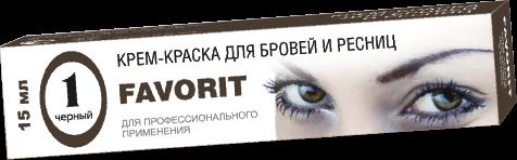Farmavita Краска Favorit для Бровей и Ресниц Черная, 15 мл