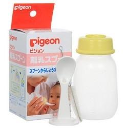 цена на Pigeon Бутылочка с Ложечкой для Кормления, 3+ мес, 120 мл