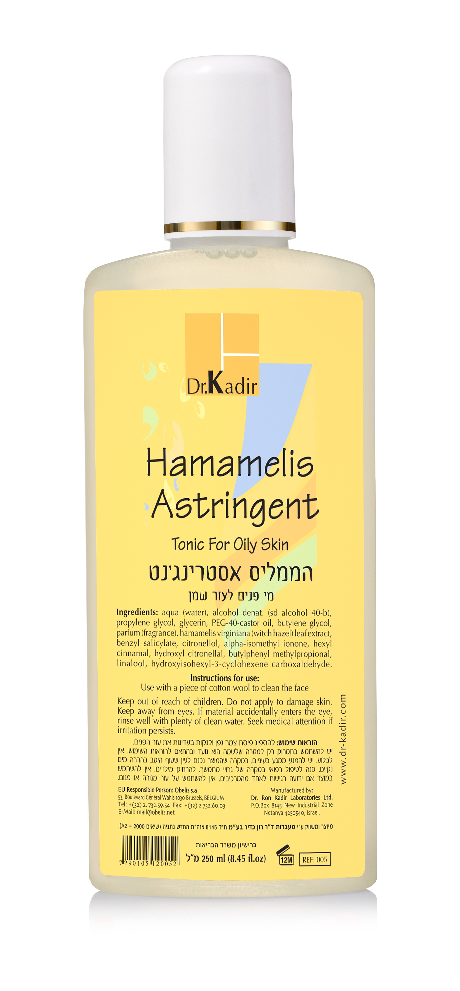 Dr.Kadir Тоник с Гамамелисом для Жирной Кожи Astringent-Hamamelis Tonic For Oily Skin, 250 мл janssen dry skin radiant firming tonic