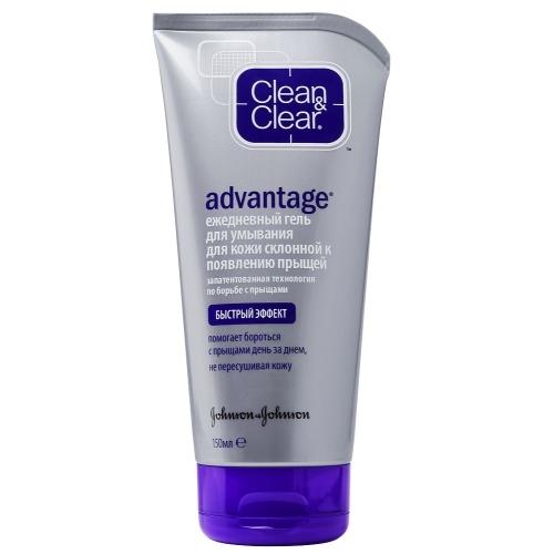 Clean&Clear Гель Advantage для Умывания от Прыщей, 150 мл