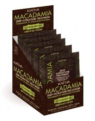 купить Kativa Интенсивно Увлажняющая Маска для Нормальных и Поврежденных Волос Macadamia , 12 шт*35г по цене 1530 рублей