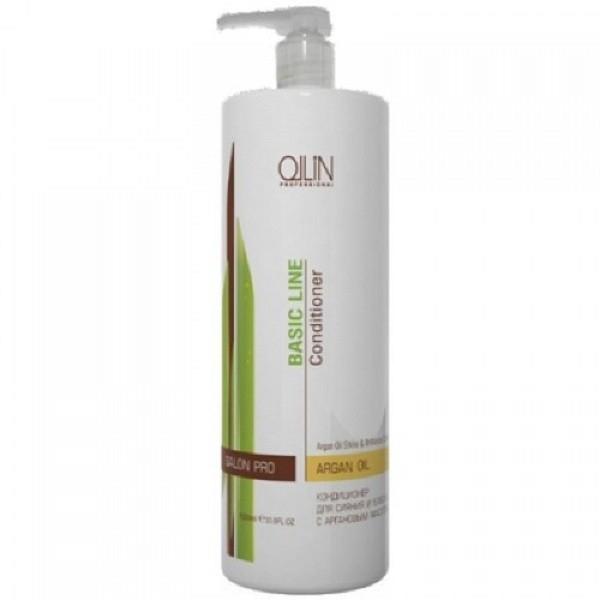OLLIN PROFESSIONAL BASIC LINE Кондиционер для Сияния и Блеска с Аргановым Маслом Argan Oil Shine & Brilli, 750 мл цены