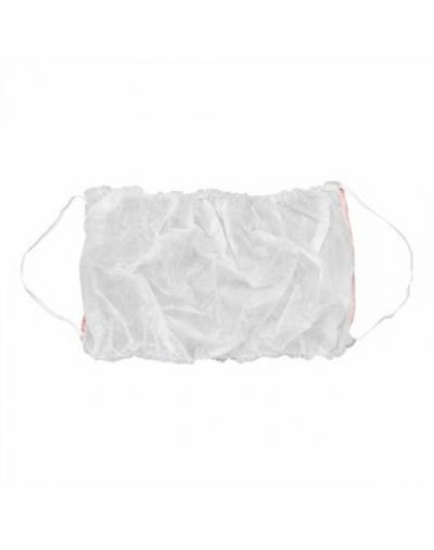 IGRObeauty Топик из Нетканого Материала с Открытой Спиной на 2х Резинках, Белый, 10 шт