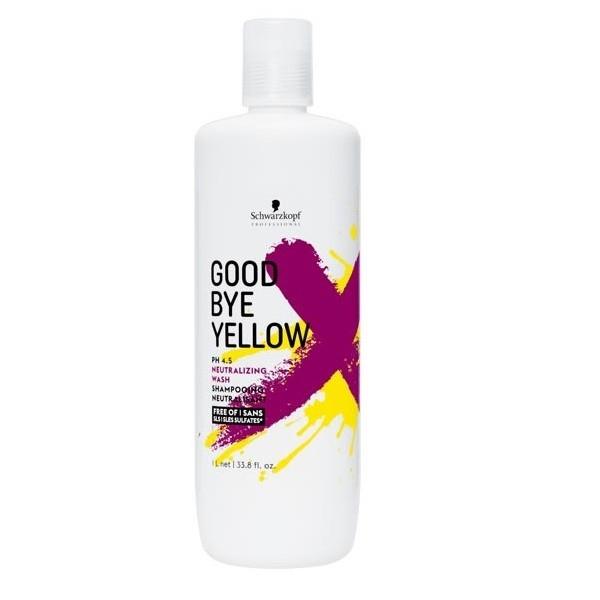 Schwarzkopf Шампунь Goodbye Yellow Высокопигментированный Нейтрализующий, 1000 мл нейтрализующий шампунь alter ego italy нейтрализующий шампунь