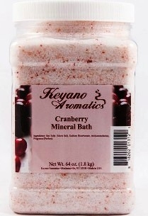 Keyano Aromatics Соль для Ванны Клюква, 1900 мл