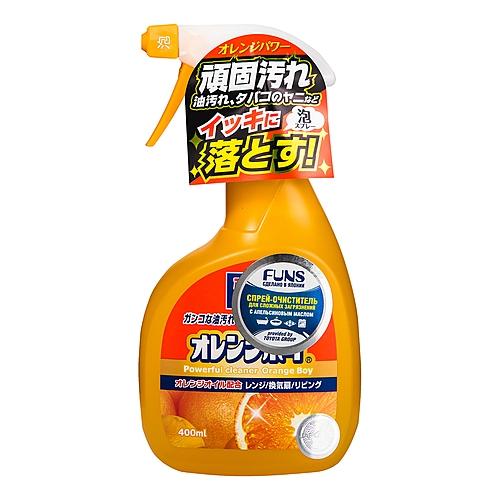 Фото - Funs Очиститель Orange Boy Сверхмощный для Дома с Ароматом Апельсина, 400 мл funs спрей для ванной комнаты с ароматом апельсина и мяты 0 38 л