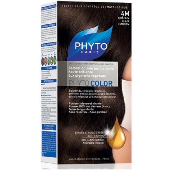 Phyto Краска для Волос Светлый Каштан 4М  Фитоколор