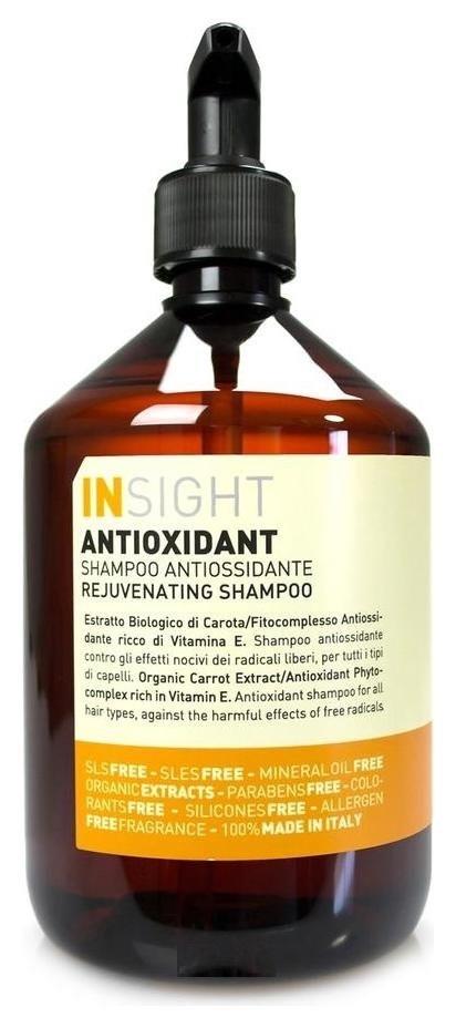 INSIGHT Шампунь антиоксидант для перегруженных волос, 400 мл insight шампунь для поврежденных волос 400 мл
