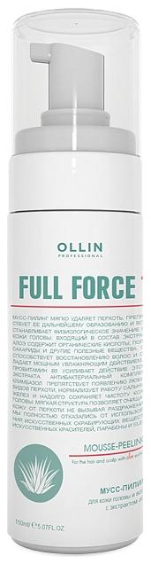 OLLIN PROFESSIONAL FULL FORCE Мусс-Пилинг для Волос и Кожи Головы с Экстрактом Алоэ, 160 мл ollin professional пилинг для кожи головы с экстрактом бамбука hair