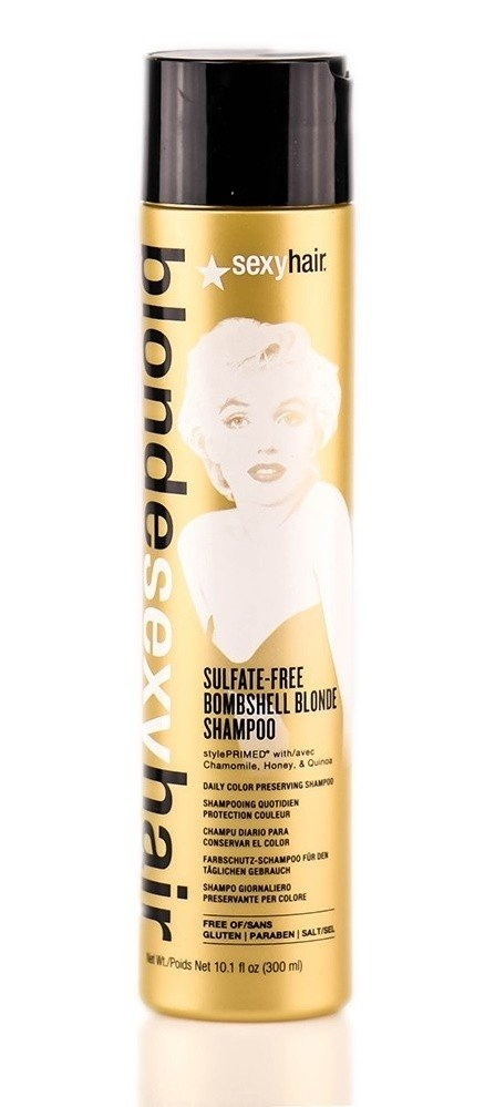 Sexy Hair Шампунь Bombshell Blonde Shampoo для Сохранения Цвета без Сульфатов, 300 мл revlon шампунь anifading shampoo анти вымывание цвета без сульфатов 1000 мл