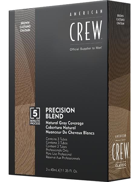 American Crew Краска для Седых Волос Precision Blend Ср.Натуральный 4/5, 3x40 мл american crew краска для седых волос precision blend 3х40 мл 4 оттенка 3х40 мл блонд 7 8
