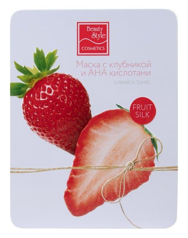 Beauty Style Маска Fruit Silk с Клубникой и АНА Кислотами Сияние Тонус, 30 мл*7 шт
