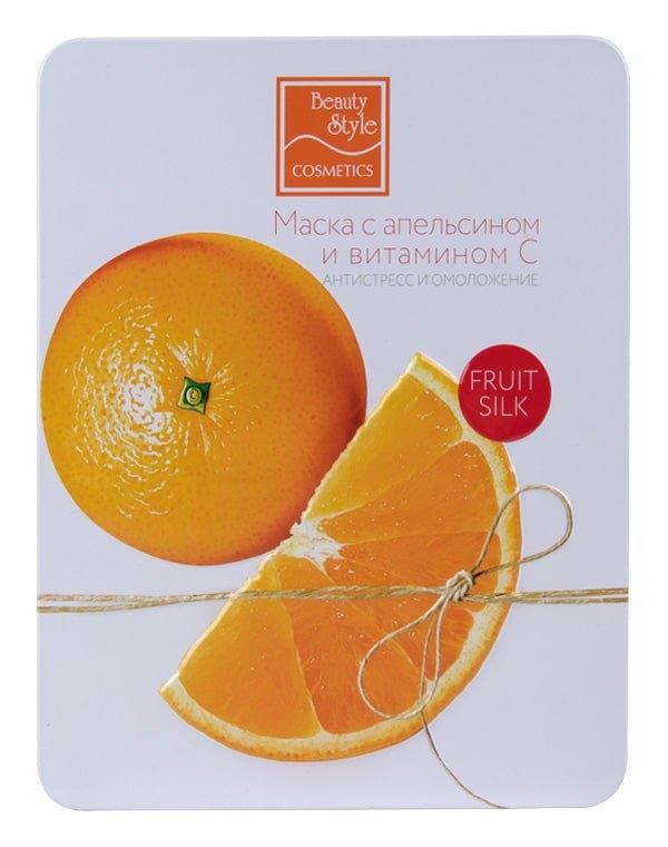 Beauty Style Маска Fruit Silk с Апельсином и Витамином С Антистресс Омоложение, 30 мл*7шт